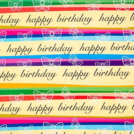 "Упаковочная бумага ""Happy Birthday"" (8418-005)"