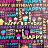 """Упаковочная бумага """"Sweet Birthday"""" (8418-006)"""