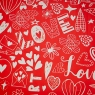 """Упаковочная бумага """"Love Heart"""" (8418-028)"""