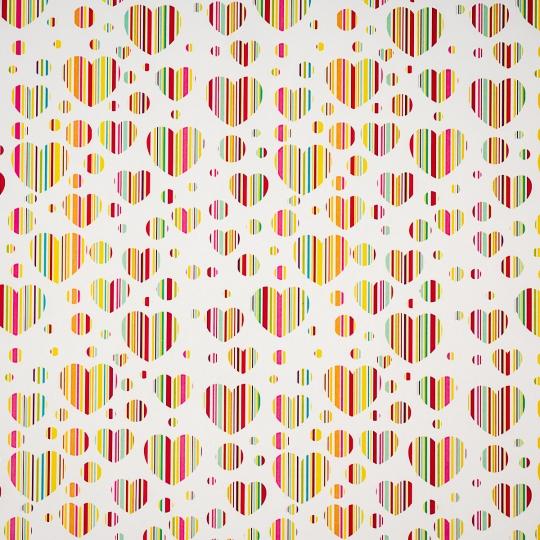 "Упаковочная бумага ""Rainbow Hearts"" (8418-029)"