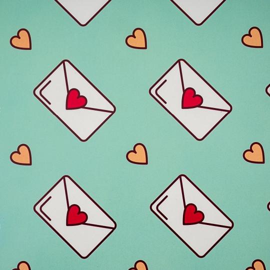 """Упаковочная бумага """"Love Letter"""" (8418-031)"""