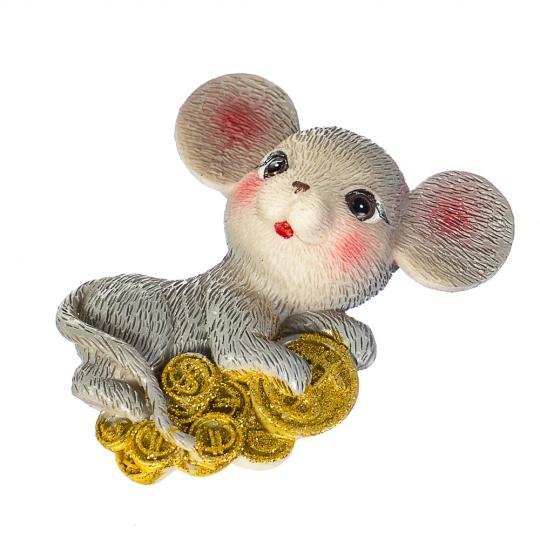 """Магнит """"Мышка с монетами"""" (015NK)"""
