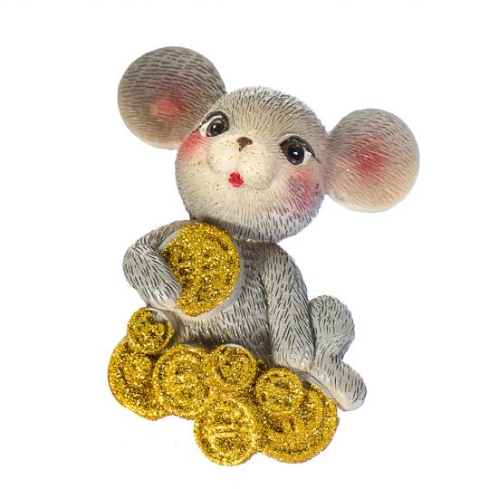 """Магнит """"Мышка - миллионер"""" (016NK)"""