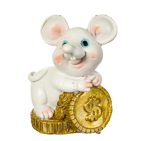 """Фигурка """"Веселая мышь с деньгами"""" (4 вида по 2шт) (017NK)"""