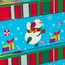 """Набор из 3 коробок """"Новогодний снеговик""""   28*20*11 (8210-003)"""