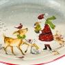 """Тарелка """"Дед Мороз с животными"""" (001NR)"""