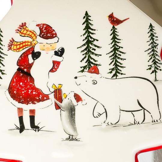 "Ёмкость для хранения ""Дед Мороз с медведем"" (002NR)"