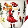"""Чашка """"Дед Мороз в лесу"""" (006NR)"""