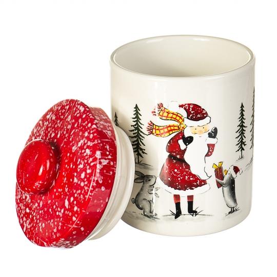 """Ёмкость для хранения """"Дед Мороз в лесу"""" (008NR)"""