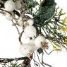 Еловый венок с белыми плодами (003NT/white)