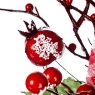 Остролист с ягодами в клеточку (007NT/red)