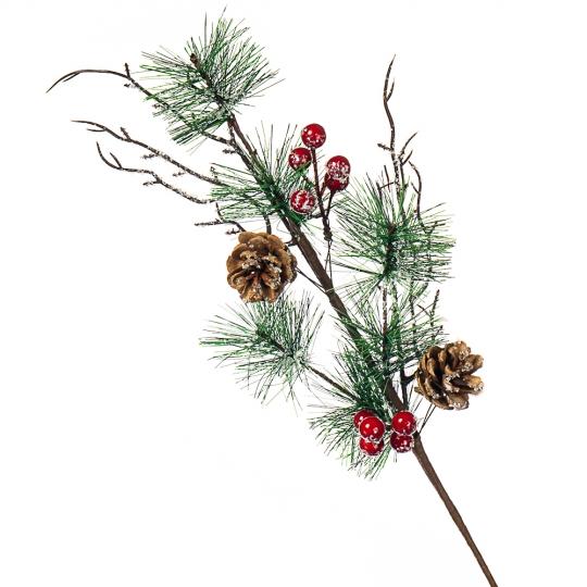 Ветка декоративная  новогодняя (015NT)