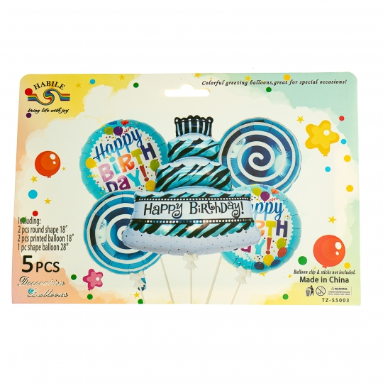 """Набор воздушных шаров """"Именинный торт"""" *рандомный выбор дизайна (8508-014)"""