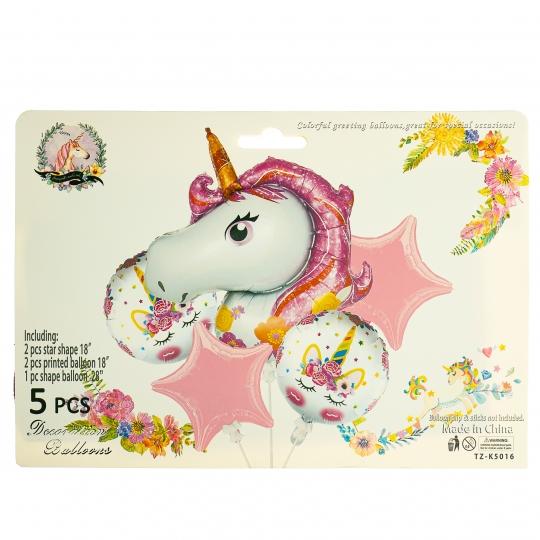 """Набор воздушных шаров """"Единорог"""", розовый (8508-025)"""