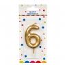 Свеча для торта, золото (3,4,6,7,8,9) (8226-010)