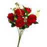 """Букет роз """"Дам де кер"""", красный 32см (8409-014)"""