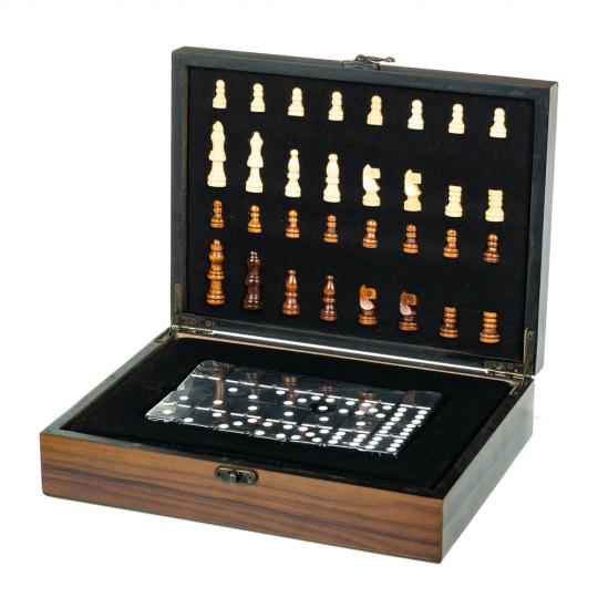 Игровой набор 2 в 1 (шахматы, домино) (8718-003)