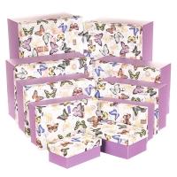 """Набор коробок """"Бабочки"""", 23х32х15 (10 шт)"""
