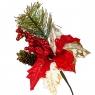 Пуансеттия красная с оленями (021NT)