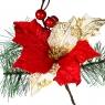 Пуансеттия красная со снежинками (022NT)