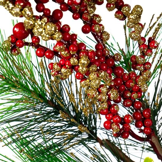 Ветка с золотисто-красными ягодами (033NT/sam)
