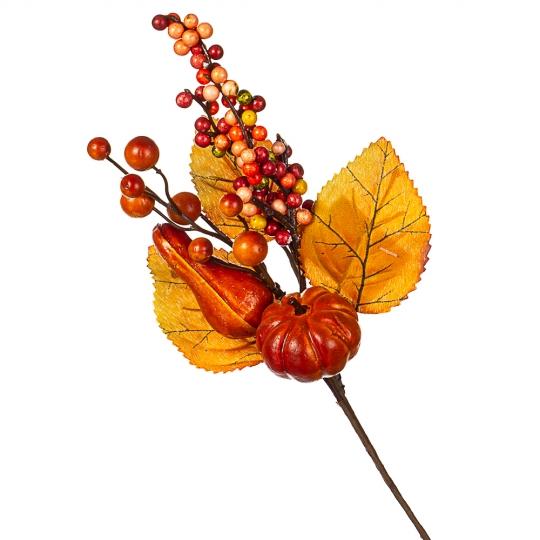 Ветка с листьями и тыквами (036NT/sam)