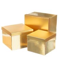 """Набор коробок """"Сияние"""", прямоугольные  (gold)"""