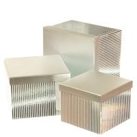 """Набор коробок """"Сияние"""", прямоугольные  (silver)"""