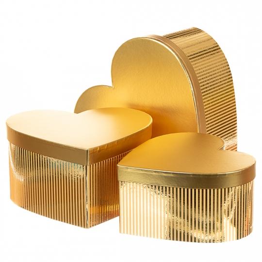 """Набор коробок """"Сияние"""", сердце (gold) (020YA-gd)"""