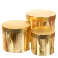 """Набор коробок """"Сияние"""", цилиндр  (gold)"""