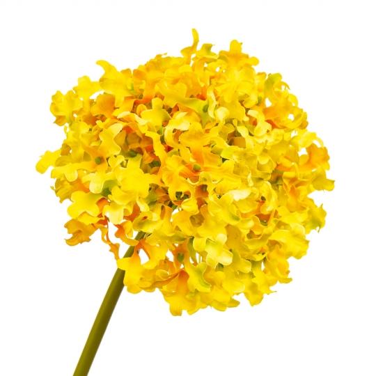 """Цветок """"Гортензия шаровидная"""" жёлтая (8100-066)"""