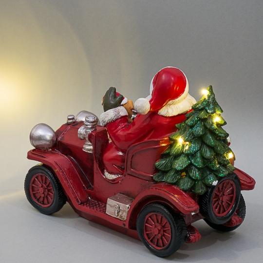 """Фигурка """"Дед Мороз на машине"""" (004UW)"""