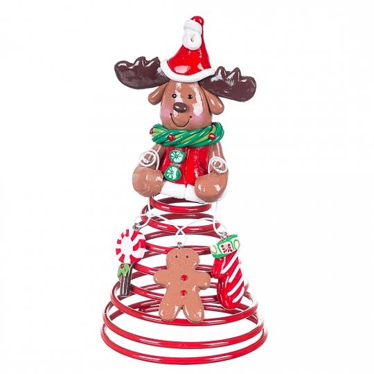 Дед Мороз Снеговик на пружине (0176J)
