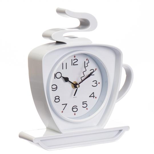 """Часы """"Чашка горячего чая белая"""" (2003-029)"""