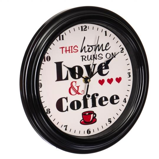 """Часы """"Любовь и кофе черные"""" (2003-037)"""