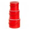 """Набор коробок для цветов 3 шт. """"Бомонд"""" (красные) (5003-004)"""