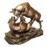 """Статуэтка """"Схватка медведя и быка"""" (16см) (77493A1)"""