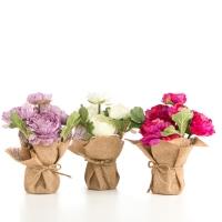 Искусственный цветок 21 см (комплект 3 шт.)
