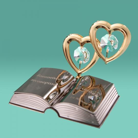 """Фигурка """"Два сердца и Библия"""" (0037-128)"""