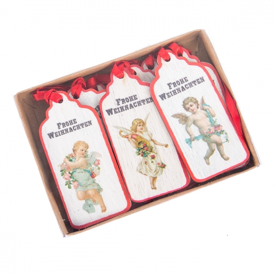 """Комплект елочных игрушек """"Новогодние ангелочки"""", 9 шт (032NY)"""