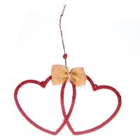 "Елочная игрушка ""Два сердца"""