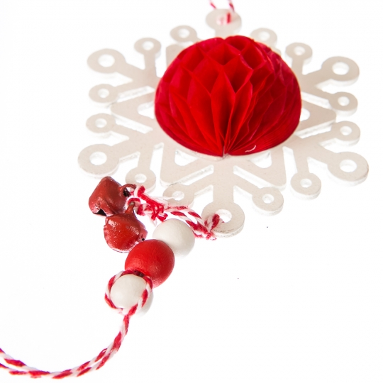 """Елочная игрушка """"Новогодние снежинки"""" (036NY)"""
