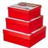 """Набор из 3 коробок """"Волшебные сани""""   28*28*11 (8211-030)"""