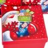 """Набор из 3 коробок """"Санта""""   20*20*9,5 (8211-031)"""