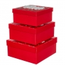 "Набор из 3 коробок ""Новогодний узор""   20*20*9,5 (8211-034)"