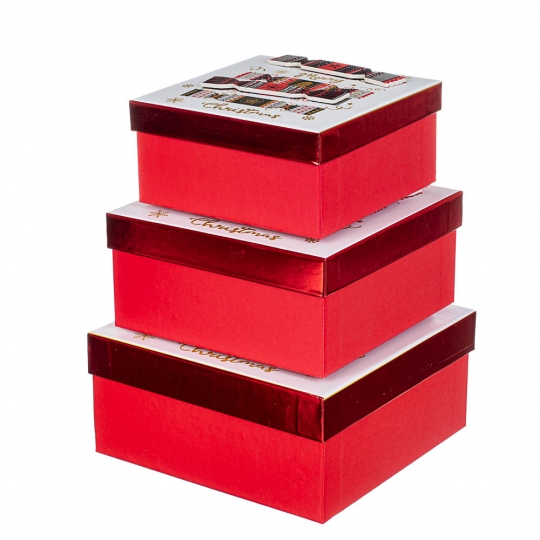 "Набор из 3 коробок ""Сладости""   20*20*9,5 (8211-044)"