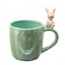 Чашка Весёлый кролик, зеленая  400 мл. (4000-004/GREEN)