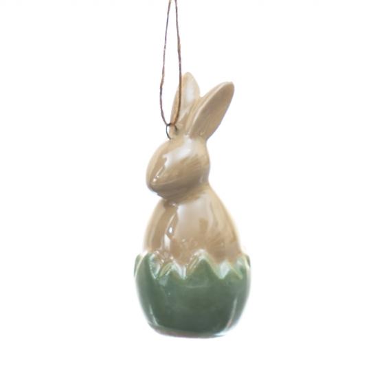 Подвеска Кролик зеленая 6,5 см. (4000-013/GREEN)