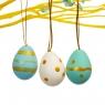 Крашенки декоративные бело-голубые 12 шт (4,5*3 см) (5001-002)