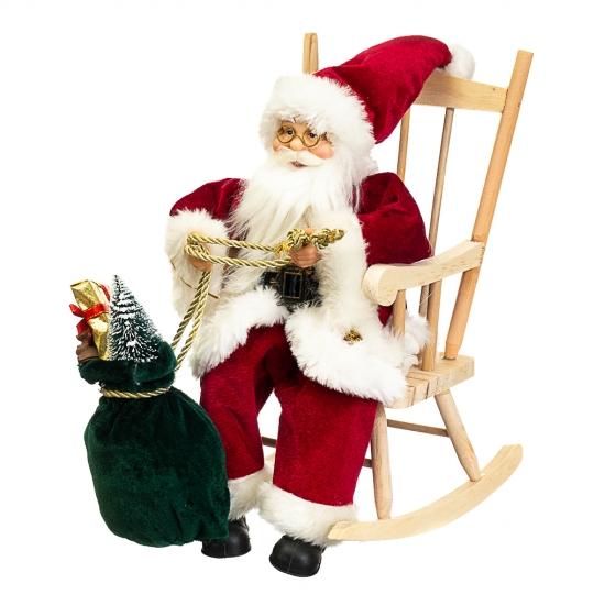 """Фигура """"Дед Мороз в кресле-качалке"""" (034NC)"""